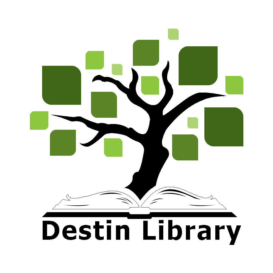 Picture of a tree that says Destin Library