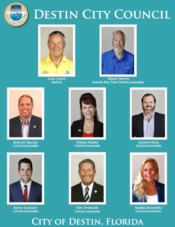 A picture of all the Destin City Council members